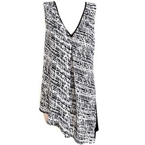 🆕 WHBM sleeveless asymmetrical tunic top b…